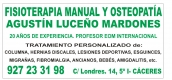 CONSULTA DE FISIOTERAPIA MANUAL OSTEOPATICA